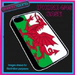 FITS IPHONE 4 / 4S PHONE WALES WELSH FLAG EMBLEM PLASTIC COVER